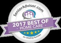 Senior Advisor Award - 2017 best of home care