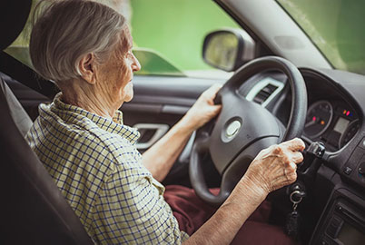 senior driving safely Georgian Triangle