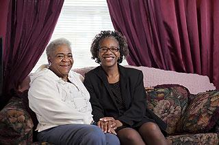 Senior with Family Member